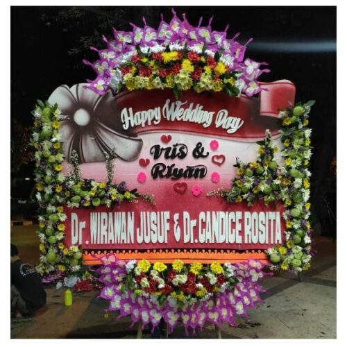 Bunga papan ucapan pernikahan